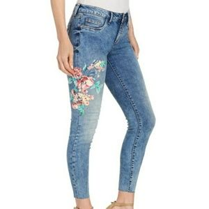 Jessica Simpson Kiss Me Ankle Skinny Floral Jeans